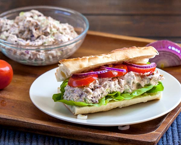 Pecan Tuna Sandwich - the last sandwich you will ever need | CookingGlory.com