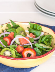 The best combination of fruits and veggies in this perfect for summer salad