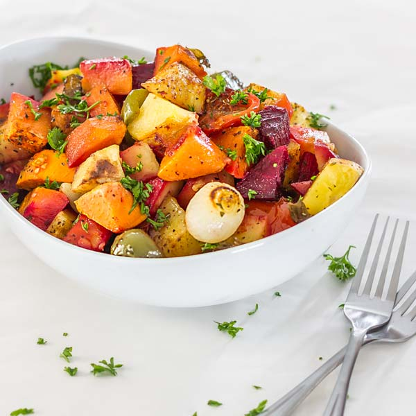 Easy to make roasted potato mix with lots of other goodies perfect side dish for... anything.