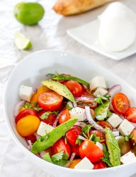 Healthy Caprese salad idea with a twist... or two. | CookingGlory.com