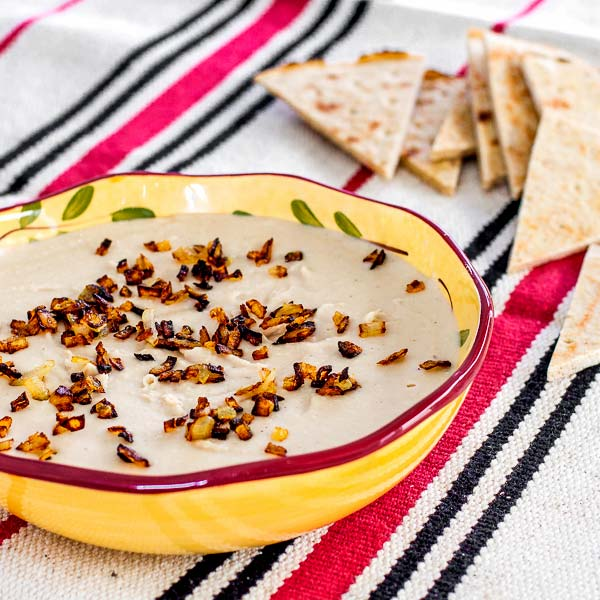 Smooth and creamy dip made from white beans | CookingGlory.com #dips #snacks #appetizers