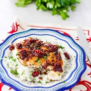 A simple way of transforming your chicken by adding a home-made cherry sauce