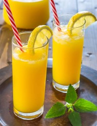 All natural home-made mango lemonade