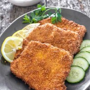 These tender and juicy pork chops are dredged through flour and breadcrumbs and fried to a crispy perfection.