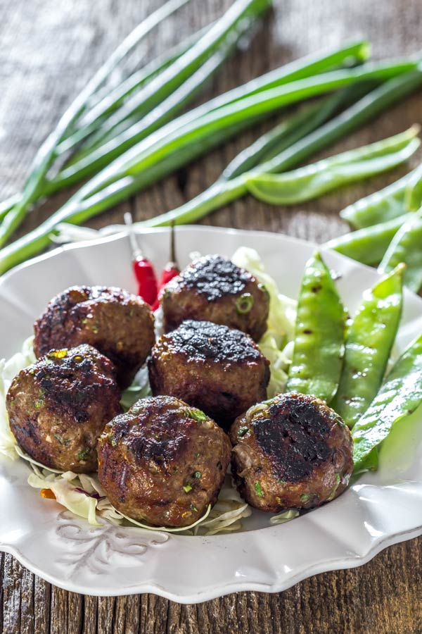 Fast to make and delicious Vietnamese inspired meatballs or the case of fast and furious, as my wife would call them. Guess why!