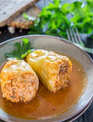 Pork stuffed peppers, a traditional Romanian recipe